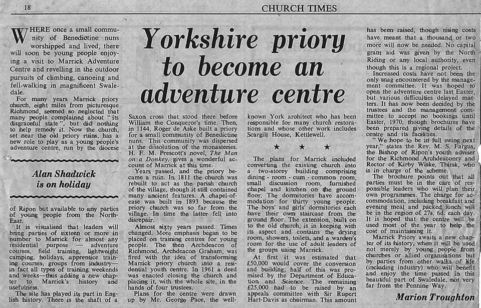 Priory to Become an Adventure Centre