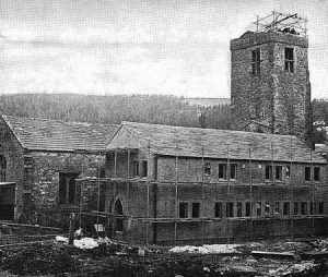 Scaffolding at Marrick Priory