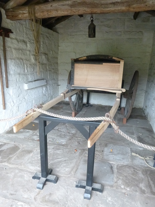 The restored Marrick Priory Hearse at Beamish Museum