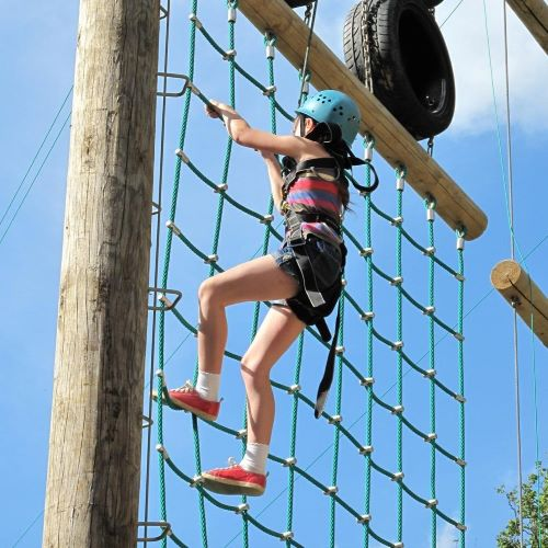 High Ropes Course at Marrick Priory Outdoor Adventure Activity Centre - Yorkshire Dales, North Yorkshire