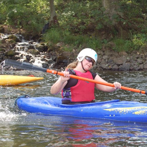 Kayaking on the River Swale at Marrick Priory Outdoor Adventure Activity Centre - Yorkshire Dales, North Yorkshire
