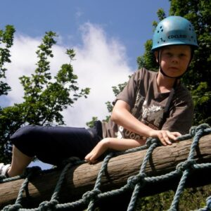 Low Ropes course at Marrick Priory Outdoor Adventure Activity Centre - Yorkshire Dales, North Yorkshire