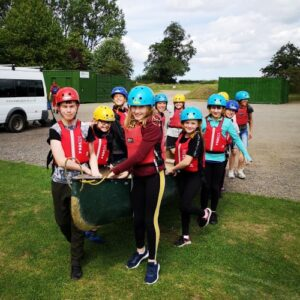 Canoeing at Ellerton Lake with Marrick Priory Outdoor Adventure Activity Centre - Yorkshire Dales, North Yorkshire