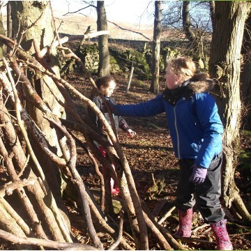 Bushcraft and Shelter Building - outdoor adventure activities at Marrick Priory - Yorkshire Dales