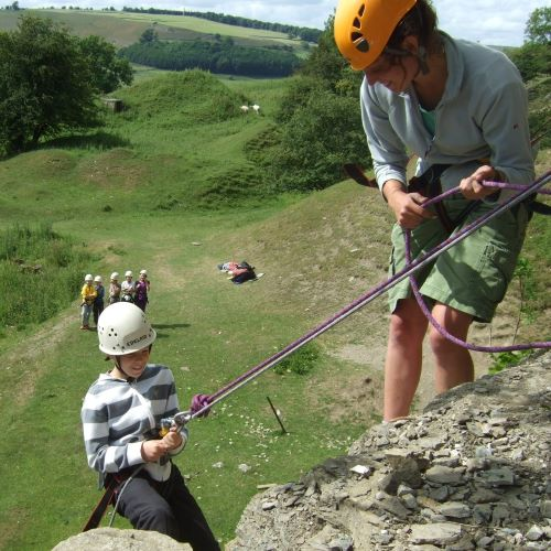 Rock Climbing at Marrick Priory - outdoor adventure activities in the Yorkshire Dales
